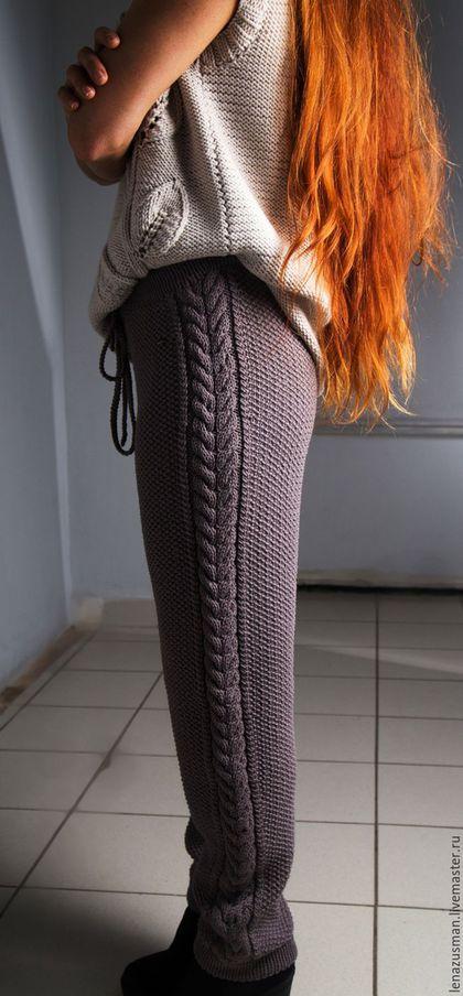 Купить или заказать Тренд сезона! Вязаные брючки. в интернет-магазине на Ярмарке Мастеров. Проданы! Очень красивые,стильные и комфортные вязаные брючки. В этом году очень актуальны трикотажные брюки. Мои штанишки связаны из натуральной турецкой шерсти высокого качества. Пряжа не колется и не вызывает аллергию,можно носить на голое тело. Они очень легкие,всего 470гр,но при этом тепленькие и не толстые. Цвет сложный,серо-коричневый. На фото цвет немного отличается от реального.