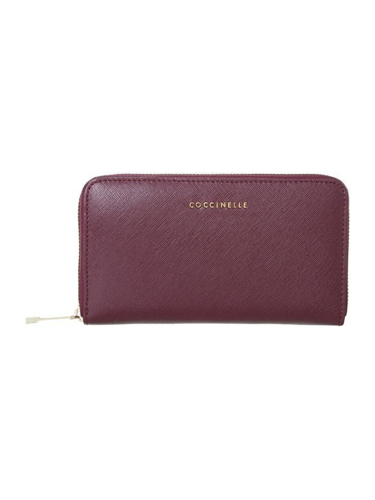 Coccinelle - Purple Large Zip Around Purse