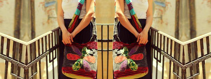Geanta handmade - FLOARE DIN PETICE
