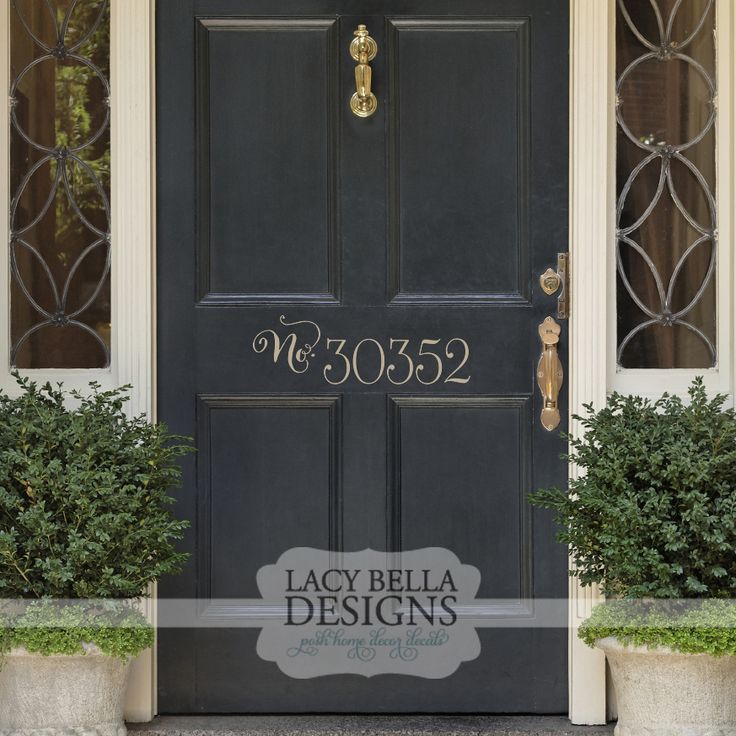 """Personalized House Address Number"" www.lacybella.com 