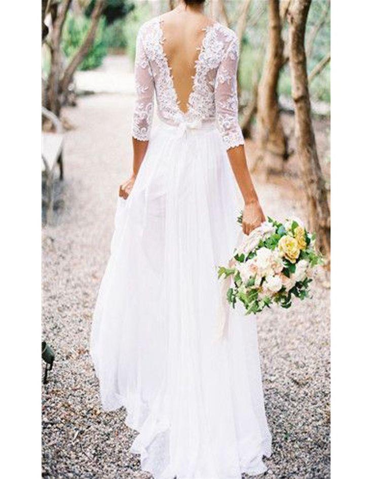 Robe de mariée dentelle dos nu                                                                                                                                                      Plus