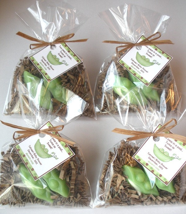 20 Two Peas In A Pod Glycerin Soap Twins Baby Shower Favors. $35.00, Via