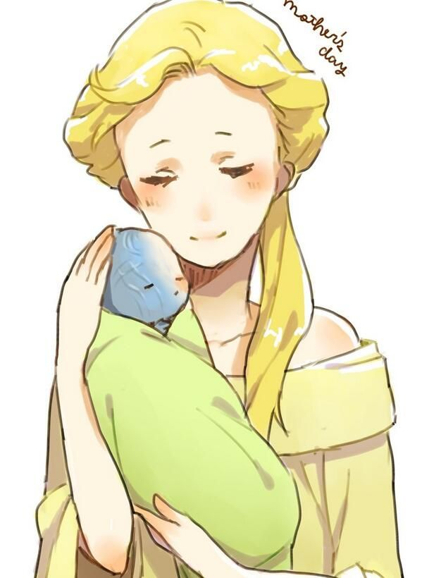 Frigga and baby Loki  Embedded image permalink (tiny blue baby!) THISISTHEMOSTADORABLETHINGEVER. I can't. I am unable to can. What is happening?!?!