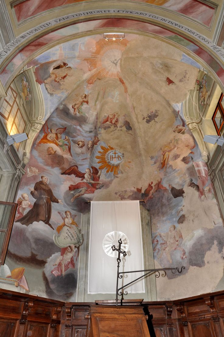 The apse of San Bernardino's church (XV-XVII c.) in Saluzzo - Cuneo - Piedmont - Italy after paintings conservation (2009-2011)
