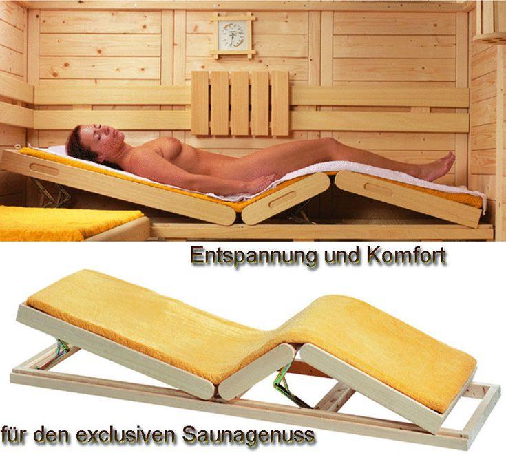 Saunabank verstellbar