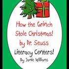 How the Grinch Stole Christmas Literacy Centers!!  Included in this packet are a Comprehension Card Game, Grinch Memory, and a Proper Noun/Pronoun sorting activity. Christmas fun!!