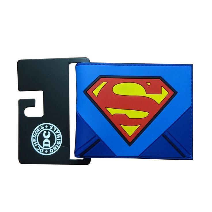 DC Anime Purse Superman Wallets carteira masculina Avengers Hero Captain America Batman Spider-man Dead Pool PVC Men Wallet