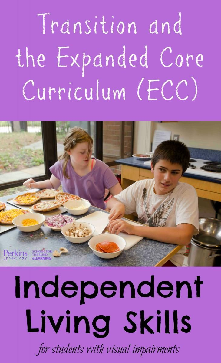 What are independent living skills within the context of the Expanded Core Curriculum (ECC) and Transition for students with visual impairments?