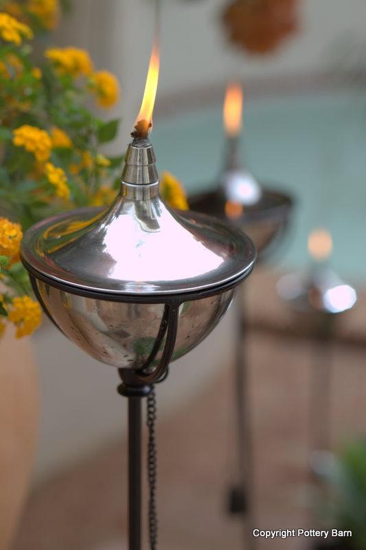 a modern take on the tiki torch