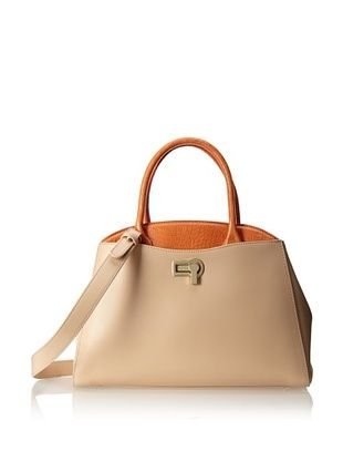60% OFF Charles Jourdan Women's Josefina Dome Satchel, Natural Orange