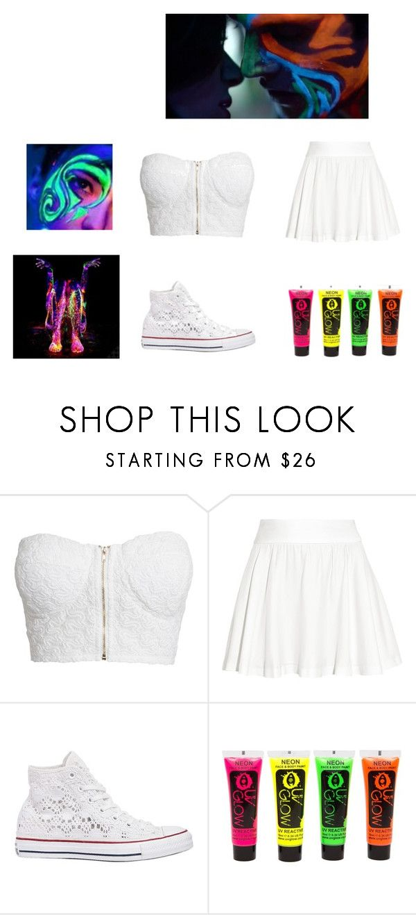 """""""Blacklight party"""" by picklecat ❤ liked on Polyvore featuring NLY Trend, Alice + Olivia and Converse"""
