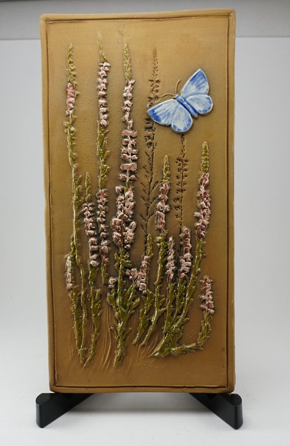 Ceramic Wall Plaque Swedish decor ceramic wall by ScandicDiscovery