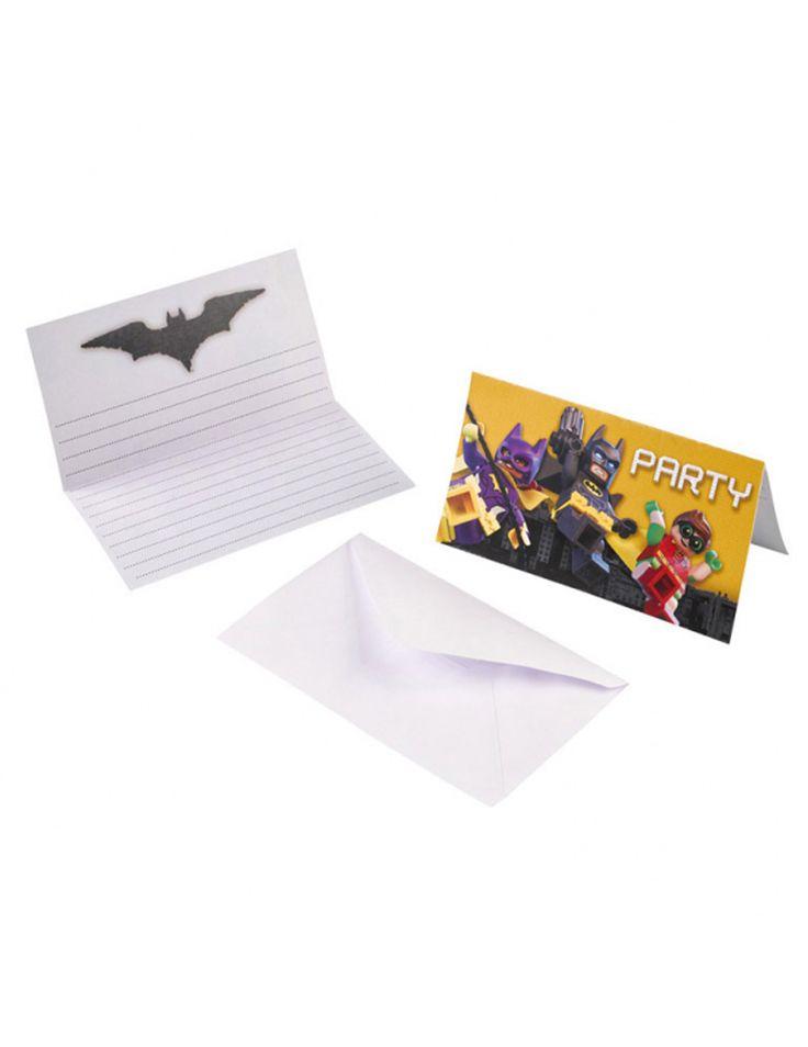 8 inviti di compleanno con buste Lego Batman™ su VegaooParty, negozio di articoli per feste. Scopri il maggior catalogo di addobbi e decorazioni per feste del web,  sempre al miglior prezzo!