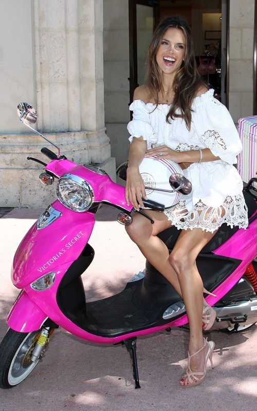 """""""Allesandra Ambrosio chased me down in a hot pink scooter and declared her to love to me. I'm not kidding!"""""""