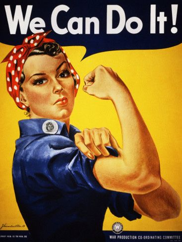 We Can Do It! (Rosie the Riveter) - by J. Howard Miller - 1942 http://www.voteupimages.com/we-can-do-it-rosie-the-riveter-j-howard-miller-1942/