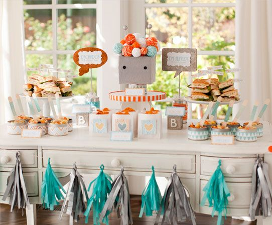 Baby Shower Theme Idea: Bundle Of Bots Baby Shower From Pottery Barn Kids  And Hostess With The Mostess  Hip Mamau0027s Place