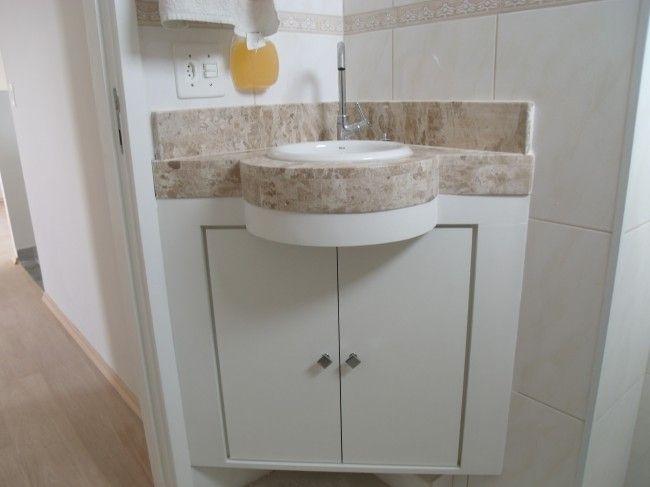 25+ melhores ideias sobre Pia De Canto Para Banheiro no Pinterest  Banheiros -> Gabinete De Banheiro Canto