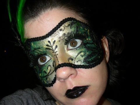 Make up mask tutorial *in Spanish*    http://www.youtube.com/watch?v=xK-_H230GeM=related