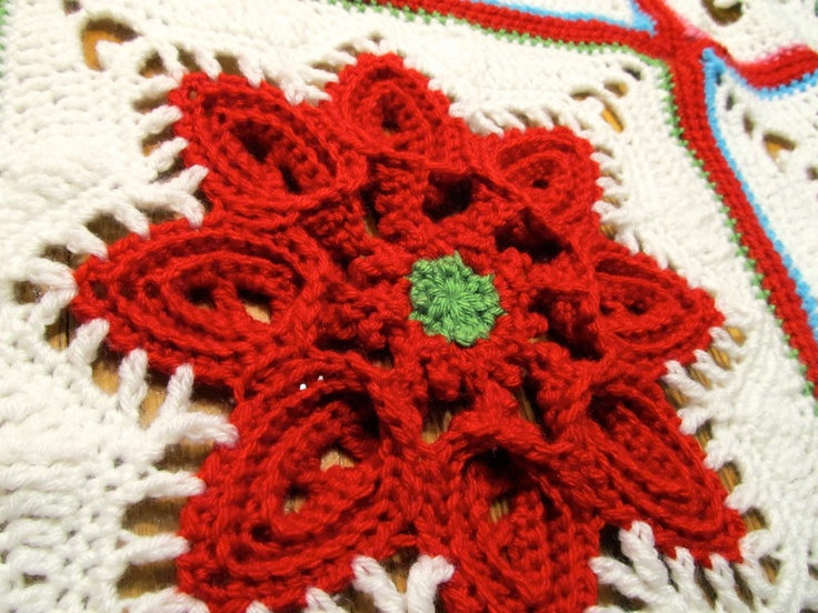 christmas afghan | Signed With an Owl: Christmas Afghans Scrapghan Block