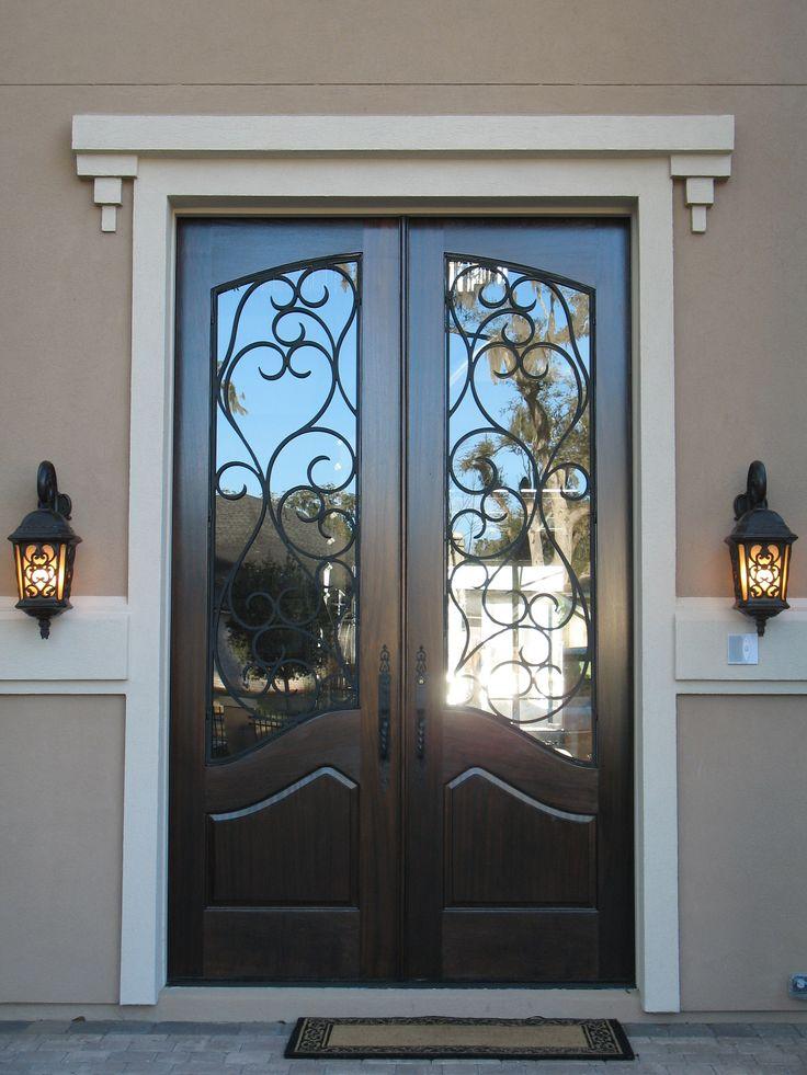 Terrific France Steel Entry Door Design With Artistic Iron Work ...