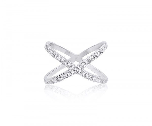 Silberring mit Zirkonia Kristallen / Sterling silver ring with zirconia crystals