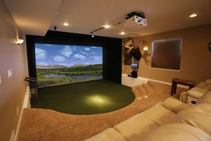 Golf Simulator Photo Gallery - Take a look at some of the many TruGolf golf simulators featured in homes, businesses and golf facilities around the globe.