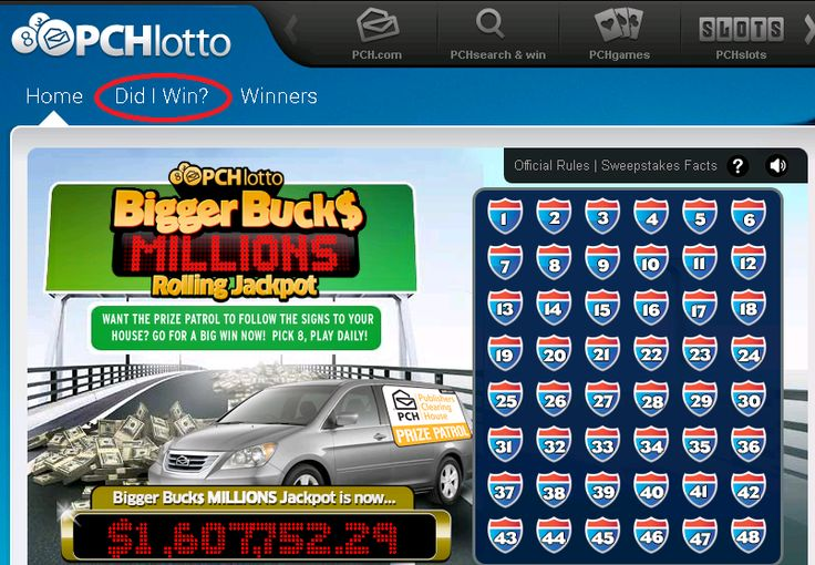 Posted in: PCH PlayandWin Blog | PCH Lotto | Why You Should Check Your Lotto Numbers Daily At PCHlotto Hey Lotto Fans,  Want to know if you're a PCHlotto Winner?