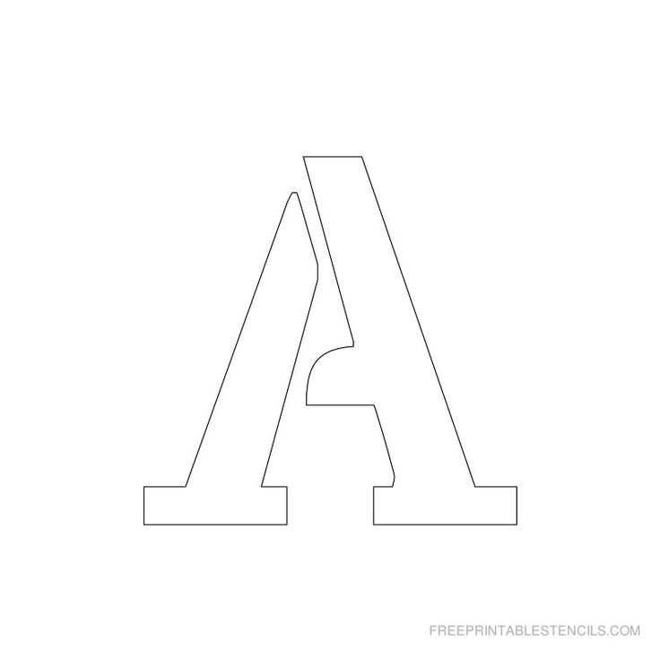 The  Best Printable Letter Stencils Ideas On   Free