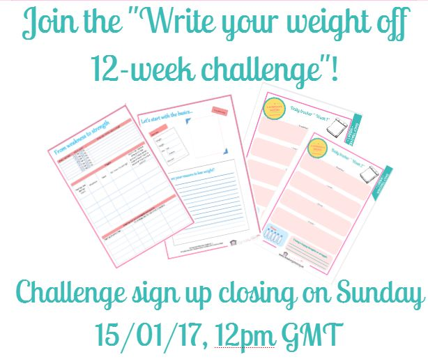 """We are opening our FIRST """"Write your Weight off 12-week Challenge""""! I'm coming soon with VERY exciting info for you and an AMAZING offer, that will help you get to the end of the 12-weeks feeling healthier, more confident and motivated."""