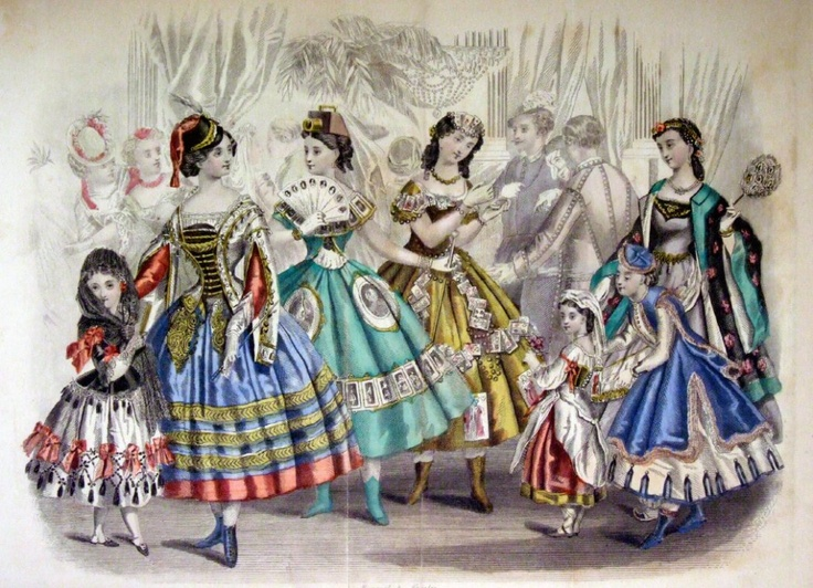 Fancy Dress Costumes for Ladies, color fashion plate