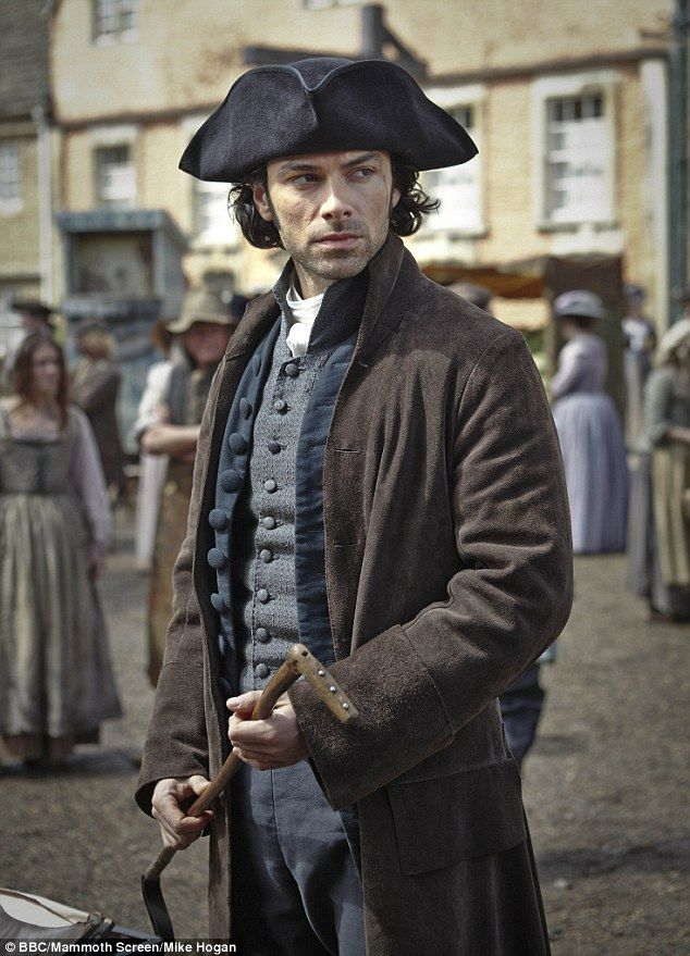 Aidan Turner as Ross Poldark in BBC's Poldark