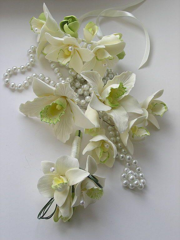 """Купить Комплект невесты """"Брызги шампанского"""" - комплект украшений, комплект, свадебный комплект, свадьба"""
