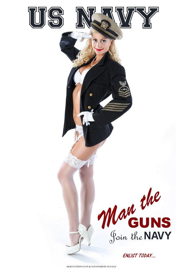 US Navy ~ Man the Guns poster