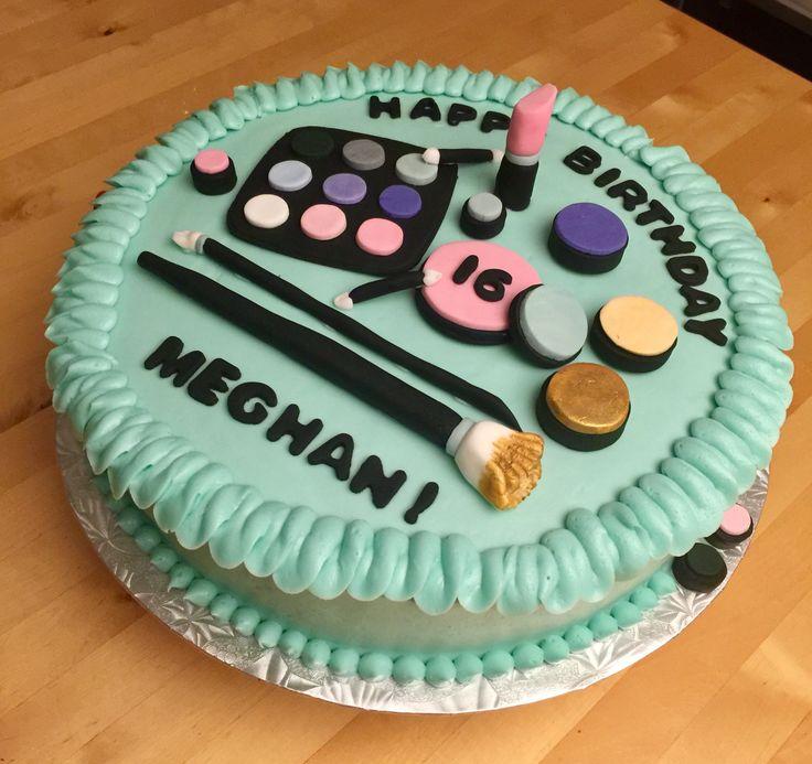 16th Birthday Make-up Cake