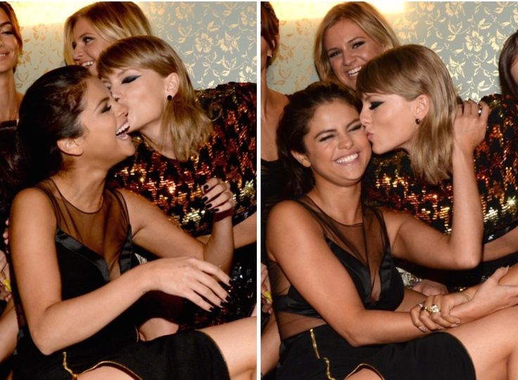 August 30th, 2015: Selena Gomez and Taylor Swift attending the Republic Records VMA After Party at Ysabel in West Hollywood, California