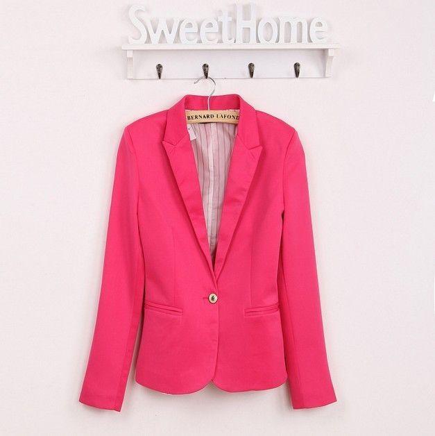 NEW blazer women suit blazer foldable brand jacket made of cotton & spandex with lining Vogue refresh blazers