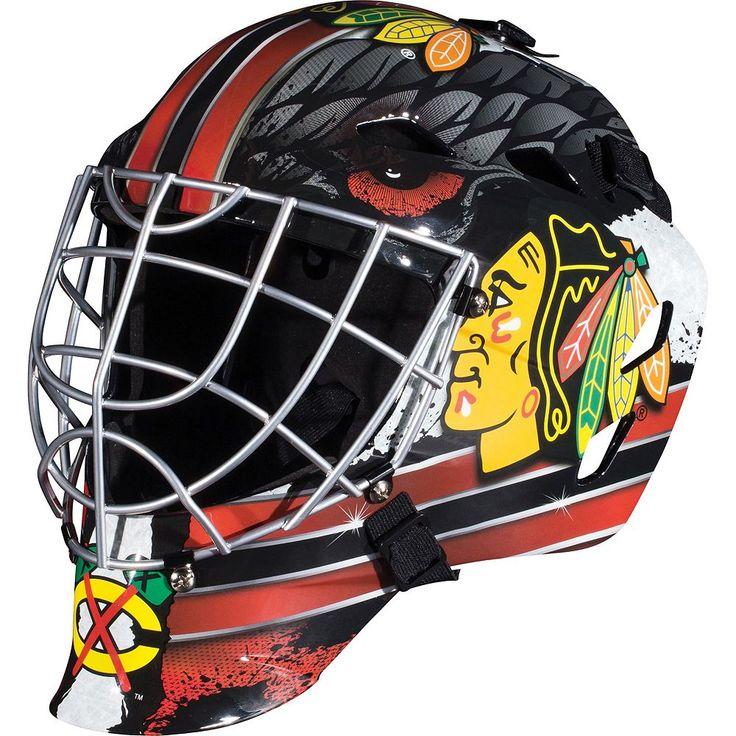 Franklin Youth Chicago Blackhawks GFM 1500 Street Hockey Goalie Face Mask, Multicolor