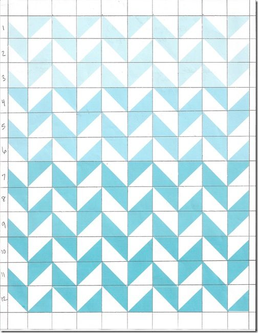 Marked quilt pattern for herringbone quilt via sew dang cute crafts