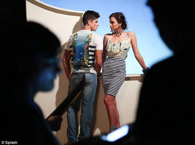 Hot property: The model stars opposite Brazilian male model Evandro Soldati...