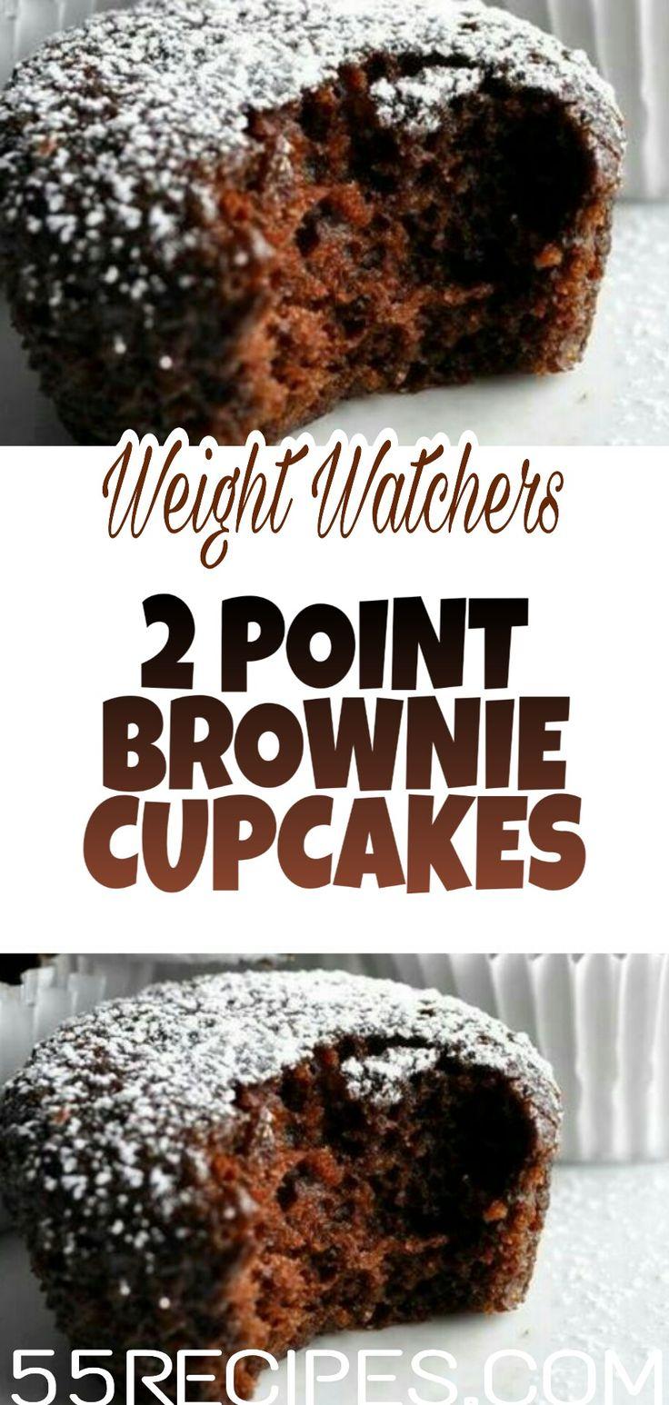 WATCHERS POIDS 2 POINTS BROWNIE CUPCAKES    – | Weight Watchers Dessert Recipes |