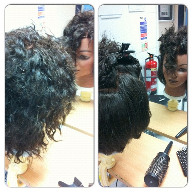 #instacollage #before #after #mj #african #afro #hair #hairdressing A great brazilian blowdry salon in in the Peterborough is http://www.anagenhairdesign.co.uk