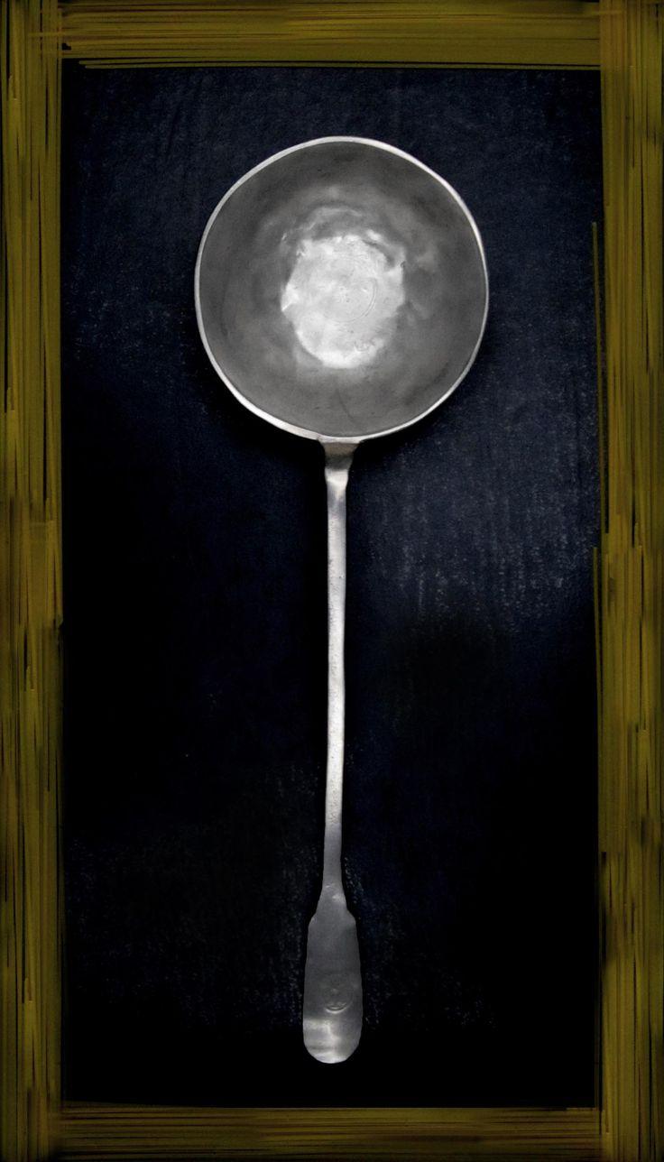 Pewter Ladle - Length: 34 cm (13,4″) - Food Safe Product - #pewter #ladle #peltro #mestolo #zinn #schöpfkelle #peltre #tinn #олово #оловянный #tableware #dinnerware #table #accessories #decor #design #bottega #peltro #GT #italian #handmade #made #italy #artisans #craftsmanship #craftsman #primitive