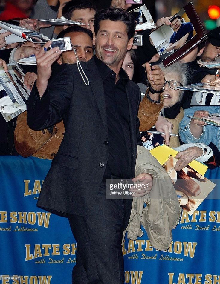 Patrick Dempsey =  THE PERFECT MAN! 2009 photo jeffrey ufberg x late show with david letterman ed sullivan theater  new york city