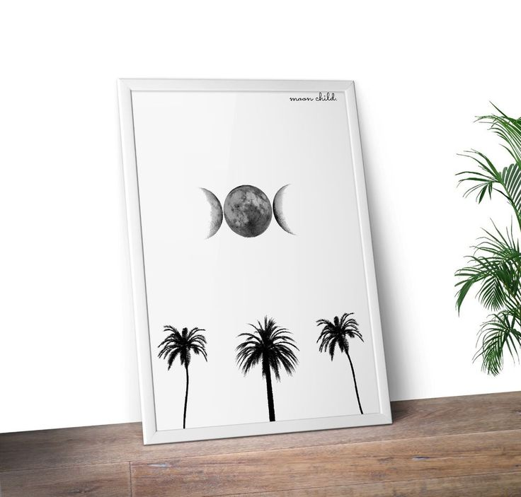 Moon child Print A4 Unisex Nursery Print in Home & Garden, Home Décor, Posters & Prints | eBay!