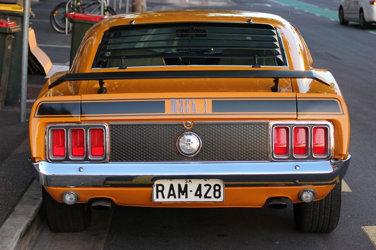 L1M1AP3-- Rear profile of the mustang. Used tight framing for this shot. Little bit annoyed that top right has another car in it. I may be able to crop it out though. Iso 320 F4 1/80s.