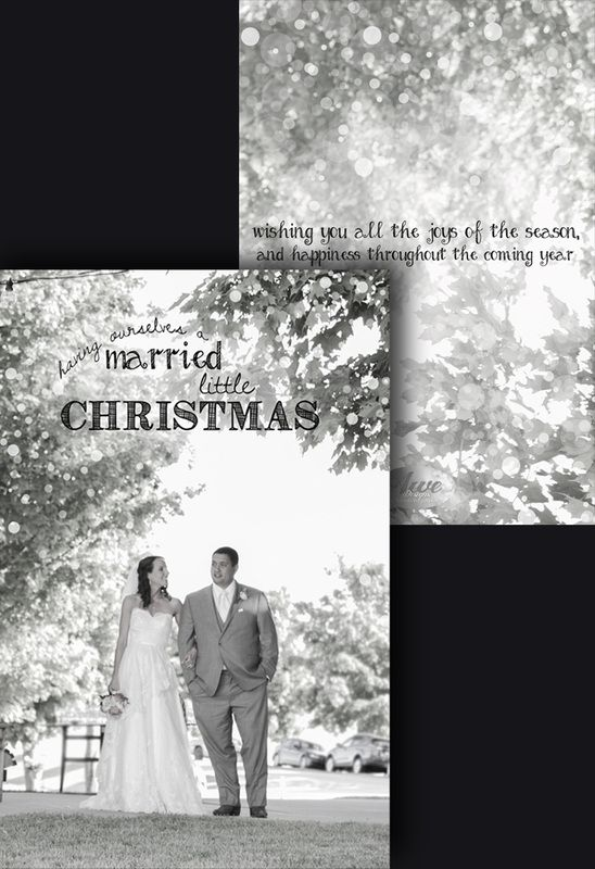 """""""Married"""" Little Christmas - front & back"""