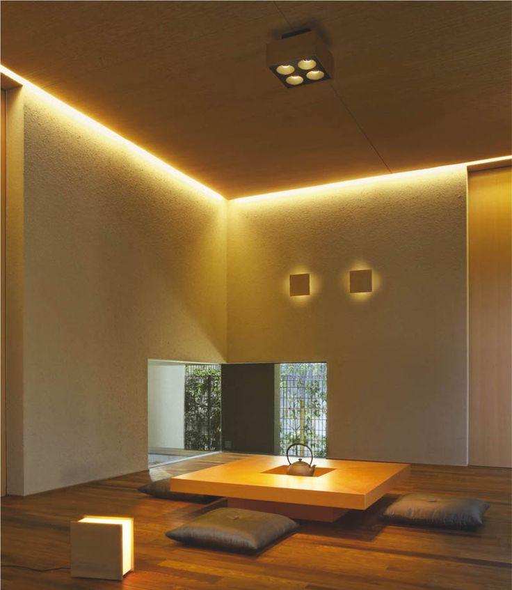間接照明により暖かい雰囲気の和空間