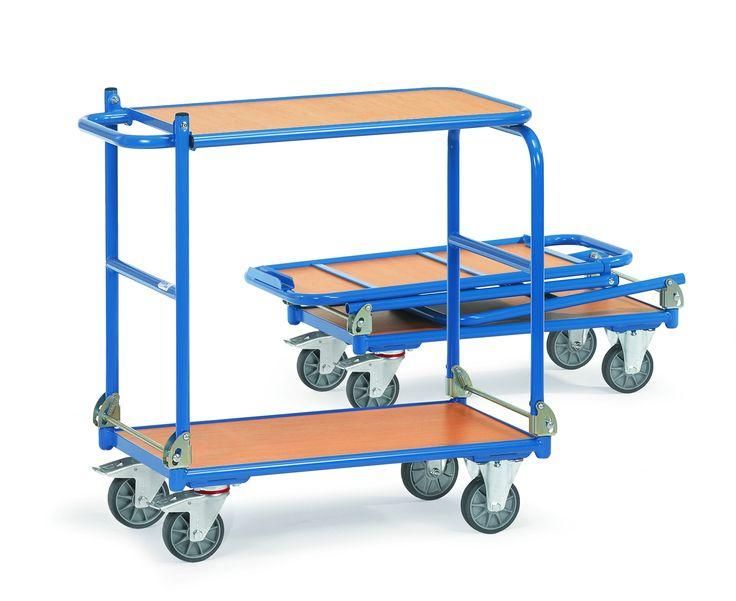 #Klappwagen mit 2 #Ebenen aus unserem Shop #SWDirekt.de • große Auswahl an Transportwagen, Reifenkarren, Reifenwagen, Klappmobile, Faltkarren, Etagenwagen und vieles mehr. Mit diesen Artikeln wird Ihr Transport erleichter ✓