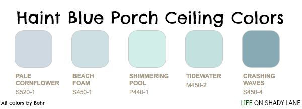 Haint blue porch ceiling colors, home design, porch ceiling