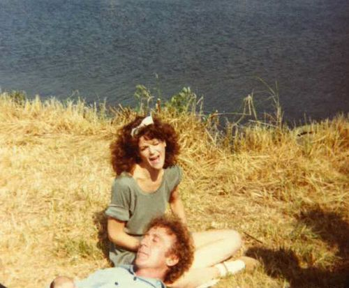Gilda Radner + Gene Wilder. When you meet your hair twin, you can't let them go.